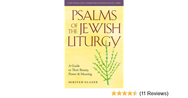 Psalms of the Jewish Liturgy: A Guide to Their Beauty, Power, and