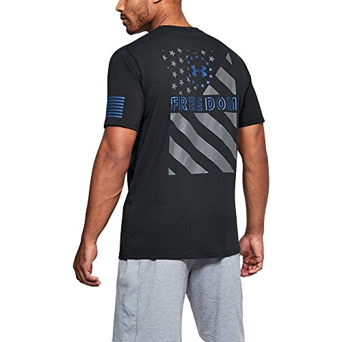 Under Armour Men's Freedom Express Flag T-Shirt, Black /Royal, X-Large