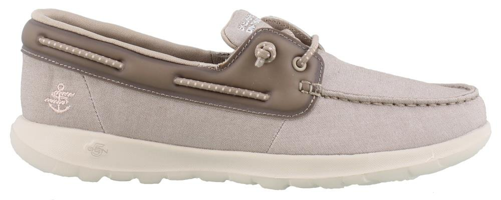 Skechers Women's Performance, Go Walk Lite Sirena Boat Shoes Taupe 11 M