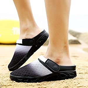 Mens Summer Gradient Color Mesh Breathable Slippers Beach Sandals Hole Outdoor Walking Hiking Sports Shoes