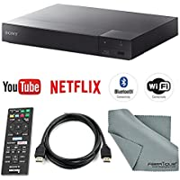Sony BDP-S6700 3D Smart Blu-Ray Disc Player with 4K Upscaling and HDMI Cable + Remote + FiberTique Cleaning Cloth