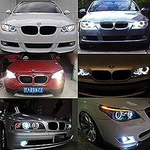 Toogoo 2x Headlamp LED angel eyes parking lights for BMW E39 E53 E60 E61 E63 E64 E65 E83 E87