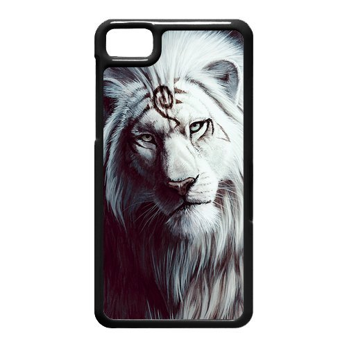 Black and White Photograph Animal Series Fashion Lion Design Hot Custom Luxury Cover Case For BlackBerry Z10(Black) with Best Plastic ALL MY DREAMS