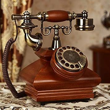 Conjuntos de teléfono vintage de madera maciza, modas modernas ...