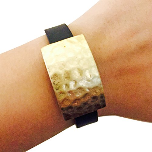 funktional-wearables-roxanna-hammered-metal-charm-for-fitbit-alta-gold
