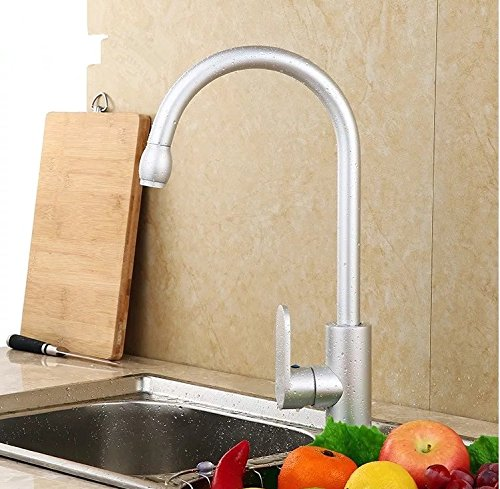 LHbox Tap Sprayer Spout Kitchen Faucet Space Aluminum Kitchen Sink Faucet Stainless Steel Dish Washing Basin Faucet and Cold Water Faucet