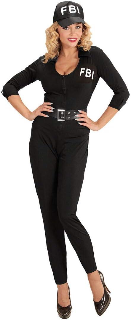 NET TOYS Disfraz ceñido FBI para Dama - Negro L (ES 44/46 ...