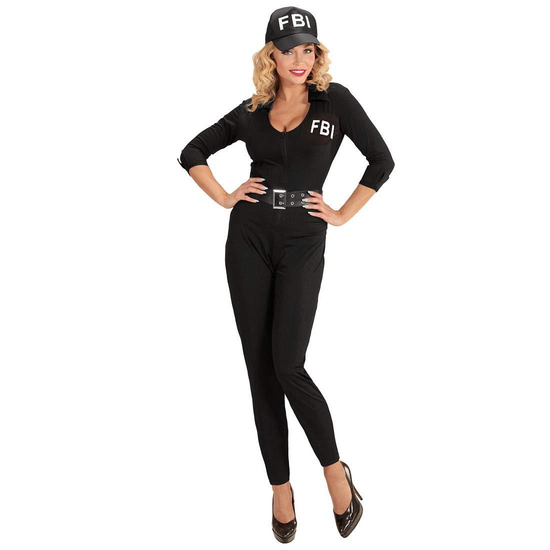 Disfraz ceñido FBI para Dama - Negro XS (ES 34) - Provocativo ...