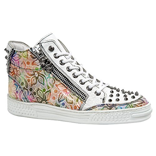 Multicolor de Otra B B Bruma Color de Crack S30 Ps039 para Zapatillas Floral Bruma Piel Floral Multicolore Multi Rock Color Deporte New Multicolor Crack Multi Multicolore M Mujer X8nHA77