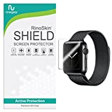 [6-PACK] Apple Watch Screen Protector 38mm (Series 3/2/1) RinoGear [Active Protection] Sport Flexible HD Invisible Clear Shield Anti-Bubble