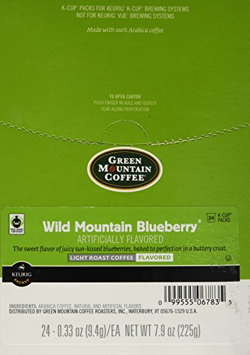 Green Mountain Coffee, Wild Mountain Blueberry, K-Cup Single Serve Portion Pack for Keurig K-Cup Brewers, 24 Count (Pack of 2)