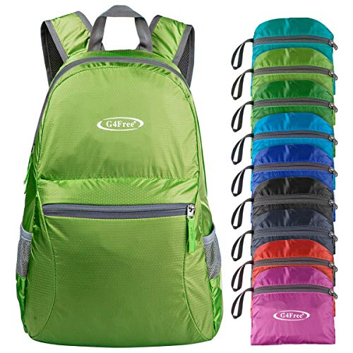 G4Free Ultra Lightweight Packable Backpack Hiking Daypack,Handy Foldable Camping Outdoor Backpack(Green) -