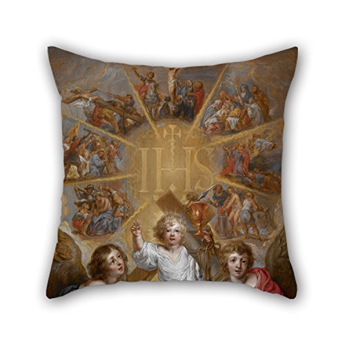 Chr Cream (Loveloveu 18 X 18 Inches / 45 By 45 Cm Oil Painting Anthonis Sallaert - The Glorification Of The Name Of Jesus Pillow Cases ,twice Sides Ornament And Gift To Car,teens Boys,christmas,club,family,chr)