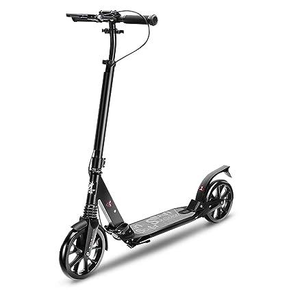 Patinetes Scooter Negro para Adultos con Freno de Mano ...