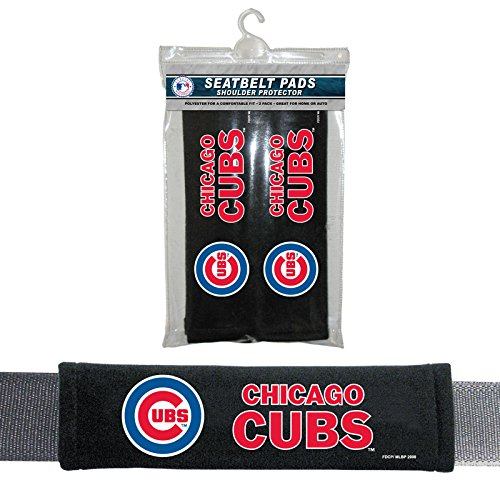 MLB Chicago Cubs Seat Belt Pad (Pack of 2), One Size,
