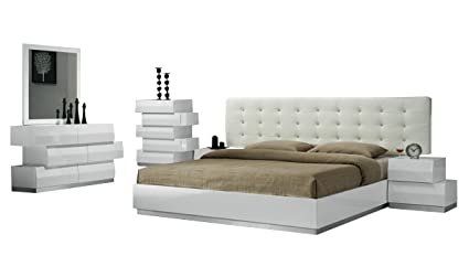 Amazon.com: J&M Furniture Milan Contemporary King Bedroom ...