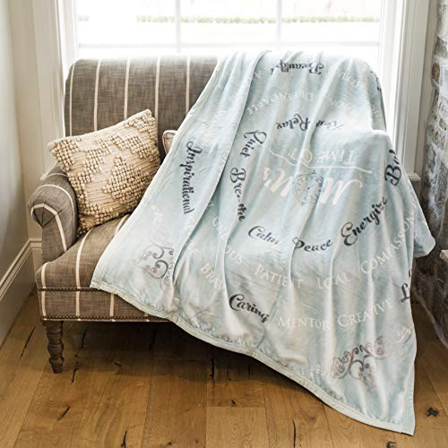 1i4 Group ReLive Mom's Time Out Velvet Luxury Throw Blanket 50x60 Soft Sentiments Teal