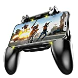 COOBILE Mobile Game Controller for PUBG Mobile Controller L1R1 Mobile Game Trigger Joystick Gamepad for 4-6.5' iOS & Android Phone(W10 Update)