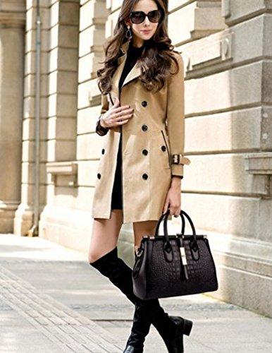 porté pour Sac Cuir femme à OHmais épaule noir bandoulière Sac en main Sac fille qv4CgxnZwt