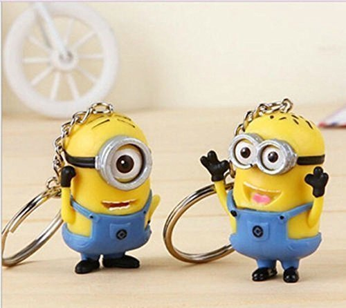 Promithi 2pcs Despicable Me Minion Toy Rubber -