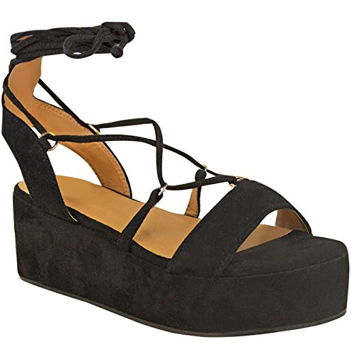 Fashion Thirsty New Womens Low Wedge Pla - New Platform Wedge Shopping Results