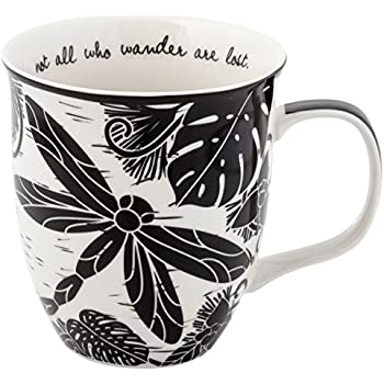 77c37ea8c3b Amazon.com: Dragonflies Coffee Mug - Large 15-Ounce Ceramic Cup ...