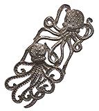 Handmade Octopus, Recycled Metal Ocean Wall Art, Haiti Steel Drum Indoor Outdoor 7.5″x 17.25″ Review
