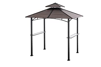 Sunjoy 81 By 52Large Bellevue Hardtop Grill Gazebo Faux Copper