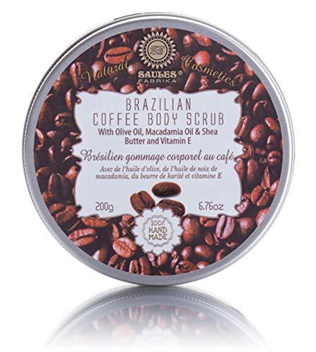 Saules Fabrika Kaffee Körperpeeling Peeling Intensiv-Pflege mit Shea Butter Macadamia Öl Body Scrub Coffee