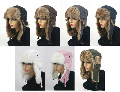 Pop Fashionwear Women's Trapper Winter Ear Flap Hat P136