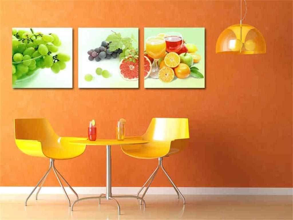 marcas de diseñadores baratos B B B Giow Pintura Decorativa Moderna de la Sala de EEstrella Fruta Simple Pintura Triple (Tamaño  B)  en stock