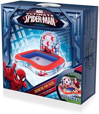 Piscina Hinchable Infantil de Juegos Bestway Spiderman 155x155x99 cm: Amazon.es: Jardín