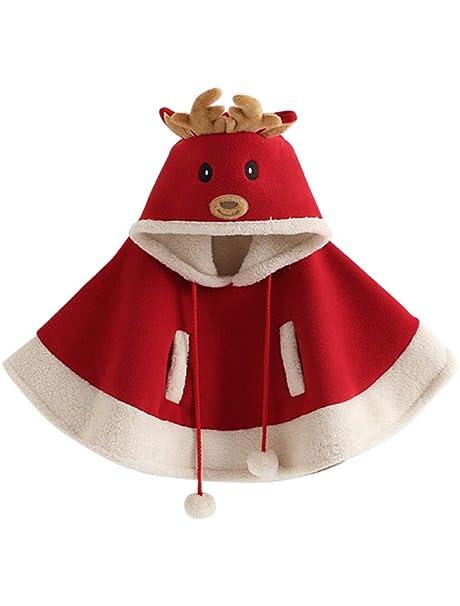 ARAUS Navidad Disfraz niña niño Chaqueta Abrigo Invierno Capa con ...