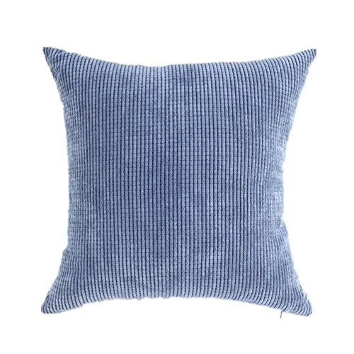 - HAMANY Corn Kernels Corduroy Square Decorative Throw Pillow Case Cushion Cover,Denim Blue,18