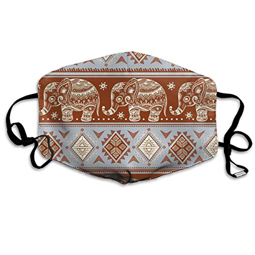 - XZX2018 Indian Lotus Ethnic Elephant Anti-dust Mouth Face Masks Solid Warm Full Printed Earloop Adjustable Reusable for Women and Men