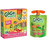 GoGo squeeZ fruit & veggieZ, Apple Peach Sweet Potato, 3.2 Ounce (48 Pouches), Gluten Free, Vegan Friendly, Unsweetened, Recloseable, BPA Free Pouches