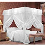 IFELES 4 Corners Bed Canopy Twin Full Queen King Mosquito Net (TWIN)