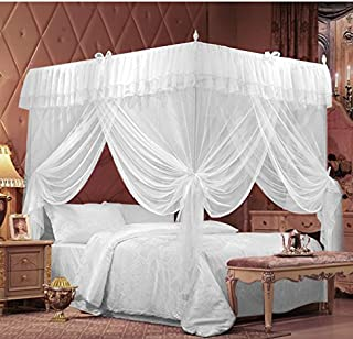 IFELES 4 Corners Bed Canopy Twin Full Queen King Mosquito Net (TWIN) & Amazon.com: DHP Canopy Metal Bed Frame Twin Size Pink: Kitchen ...