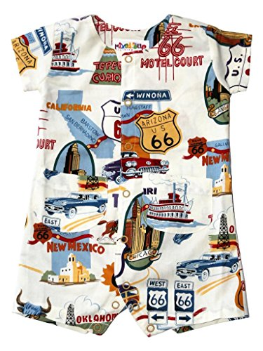 Mixed Up Clothing Baby Boys' Route 66 Romper 6-9 months White