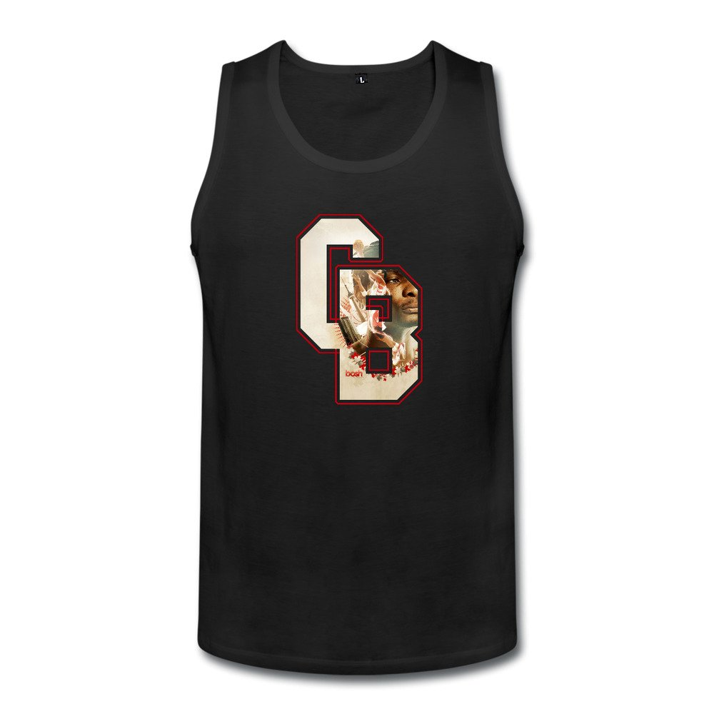 Duola Mens Loose Tank Top Power Forward Player #1 Black