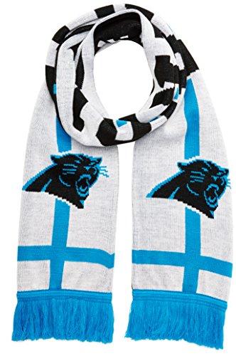 NFL Carolina Panthers Silas OTS Scarf, One Size, White -