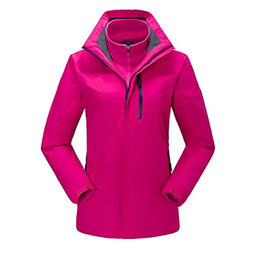 Amazon.com: Insun Womens Warm Waterproof Outdoor Fleece 3-in-1 Hooded Jacket Raincoat: Clothing
