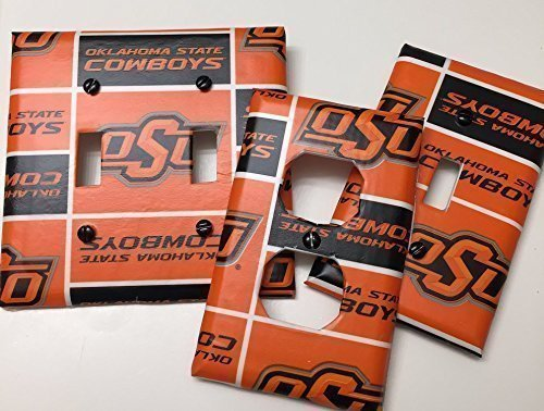 Oklahoma State University, OSU Cowboys, Light switch covers,light switch plate,outlet covers,outlet plates,home decor, wall - Outlets State College