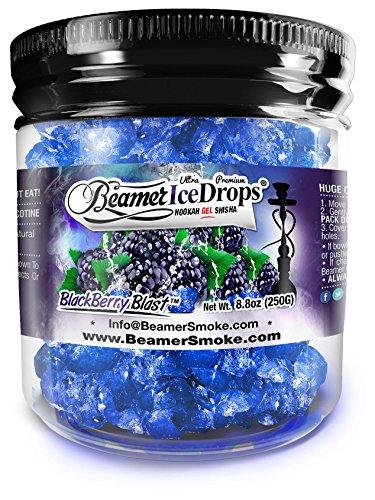 BlackBerry Blast 100G Ultra Premium Beamer Ice Drops Hookah Shisha Smoking Gel. Each bowl lasts 2-4 Hours! USA Made, Huge Clouds, Amazing Taste! Better Taste & Clouds than ()