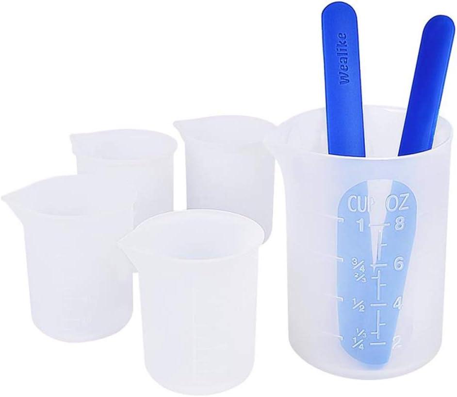 Vaso medidoras silicona (4) resina epoxi 100 ml + 2 varillas