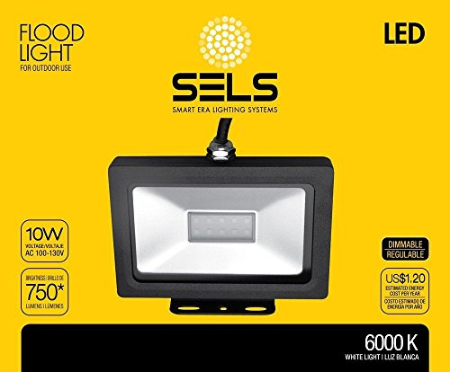 SELS LED 75-Watt Equivalent Outdoor IP65 Waterproof LED Floodlight, Daylight
