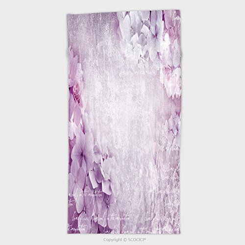 11.8W x 27.5L Inches Custom Cotton Microfiber Ultra Soft Hand Towel Floral Postcard. Can Be Used As Greeting Card, Invitation For Wedding, Birthday And Other Holiday Ha