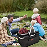 LANOUOGGK Picnic Basket Foldable Insulated with lid