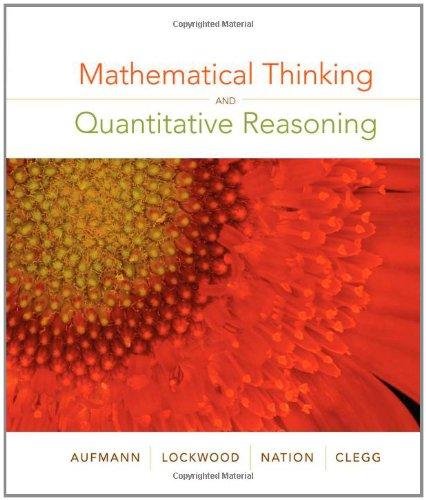 Mathematical Thinking and Quantitative Reasoning