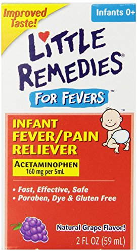 Little Remedies Infant Acetaminophen Fever/Pain Reliever, Grape Flavor, 2 Ounce 51VBluqjQXL